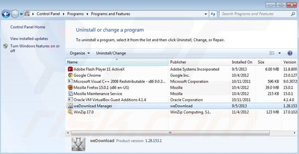 Wedownload Manager uninstall