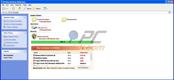 How to remove XP Micro Antivirus Online Scan - removal guide (updated)