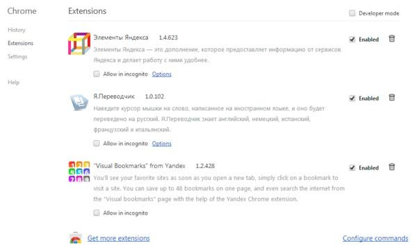 yandex toolbar google chrome