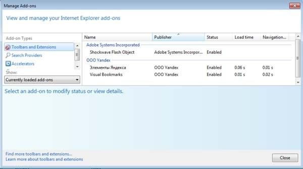 how to uninstall internet explorer add ons