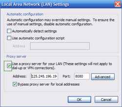internet explorer proxy settings