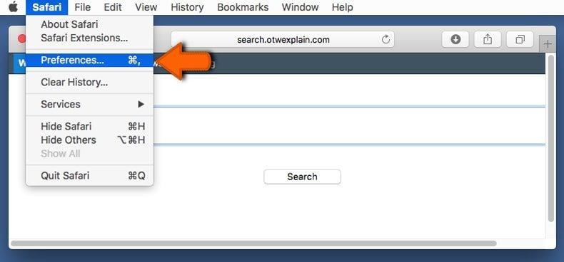 safari browser preferences