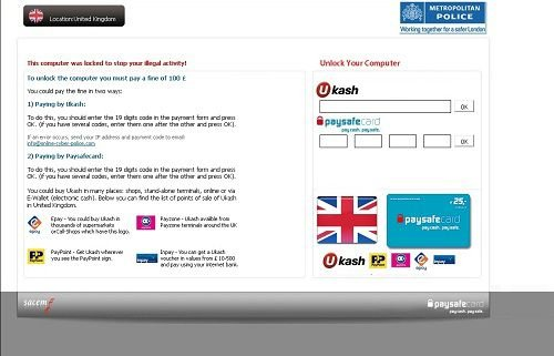 metropolitan police scam screenshot