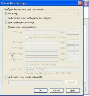 Internet Explorer Connection Settings