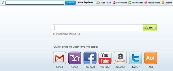 mywebsearch totalrecipesearch redirect