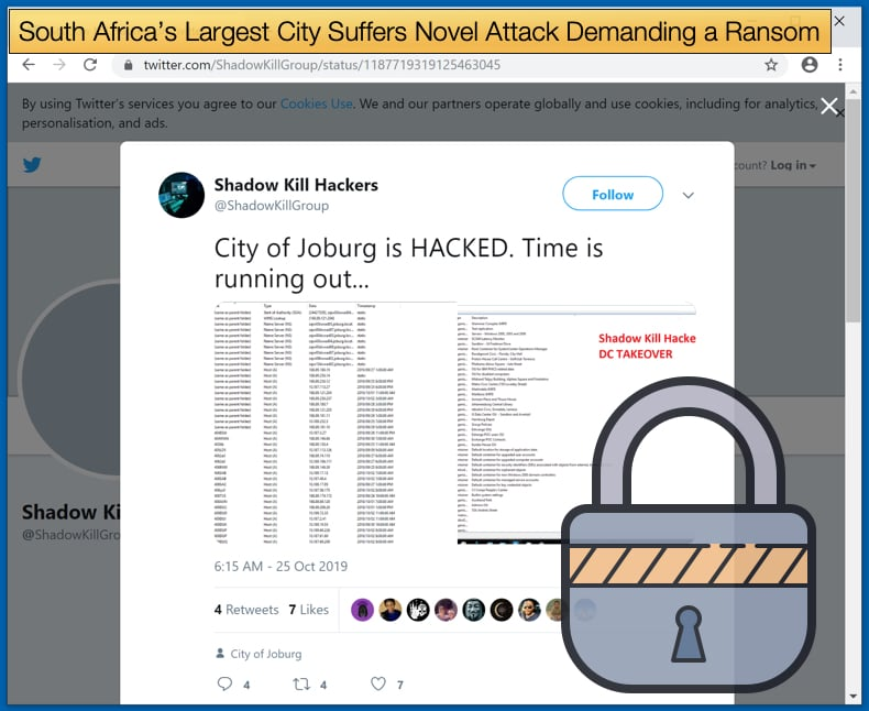 Johannesburg attacked by ransomware