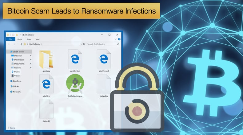 bitcoin scam leads to ransomware infections