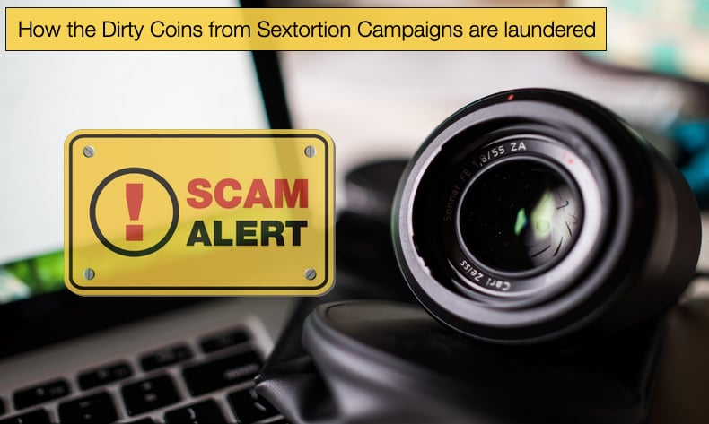 How the Dirty Coins from Sextortion Campaigns are laundered