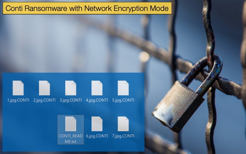 conti ransomware with network encryption capabilities