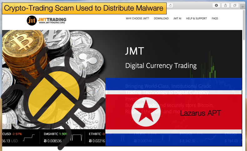 crypto trading scam distributes malware