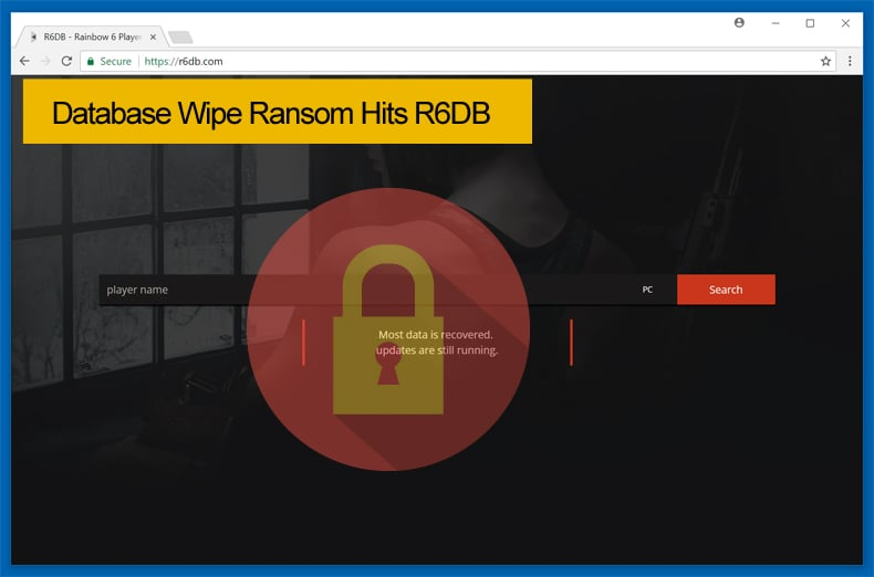 databse wipe ransom hits r6db
