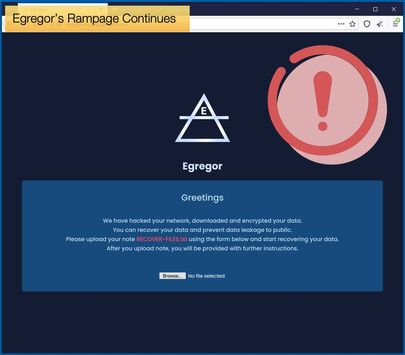 egregor ransomware rampage continues
