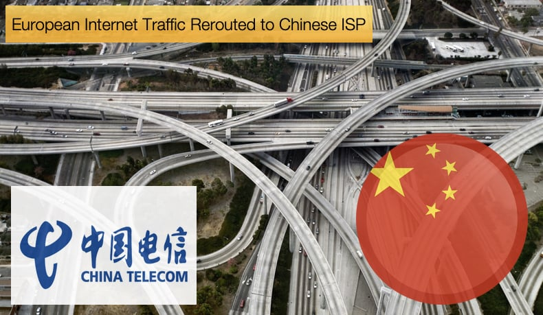 european Internet traffic rerouted to chinese isp