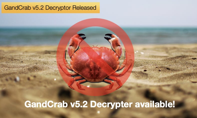 gandcrab ransomware version 5.2 decrypter released