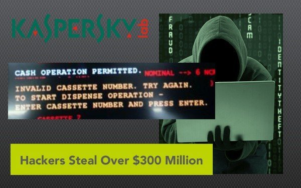 hackers steal over 300 million