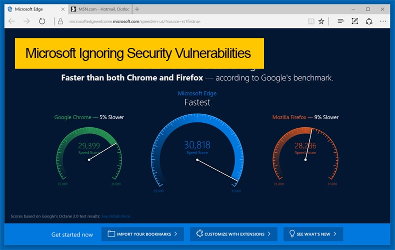 microsoft ignoring security vulnerabilities