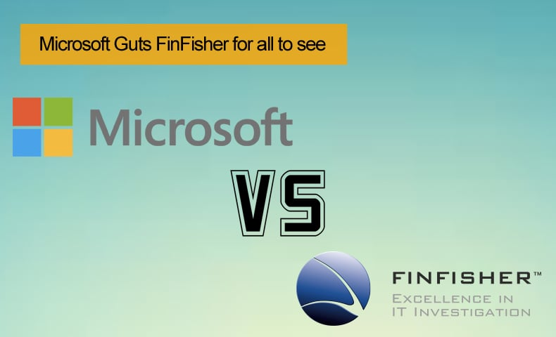 microsoft vs finfisher