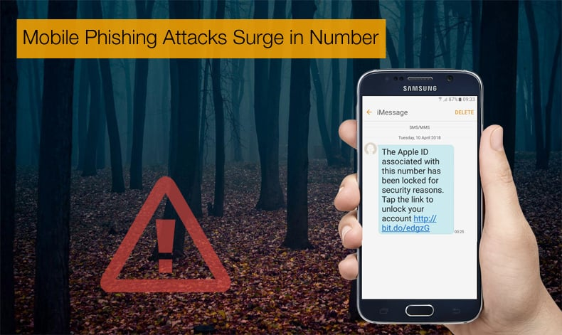 mobile phishing attacks surge in number