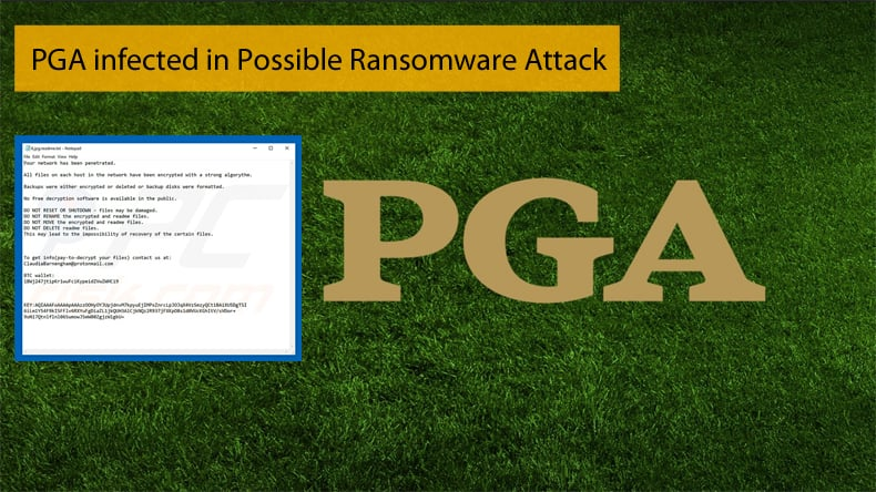 pga infected by ransomware