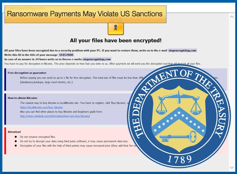 ransomware payments US sanctions