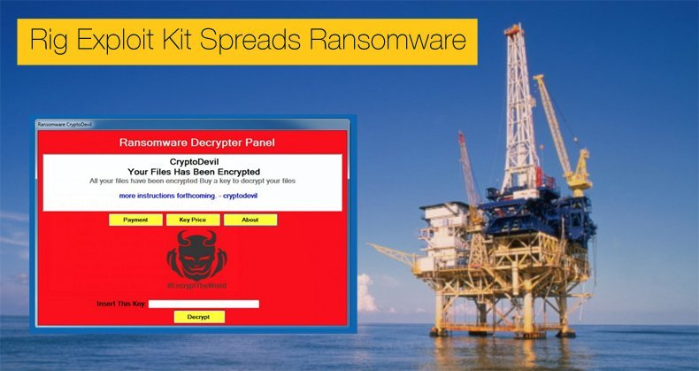 rig expoit kit spreads ransomware