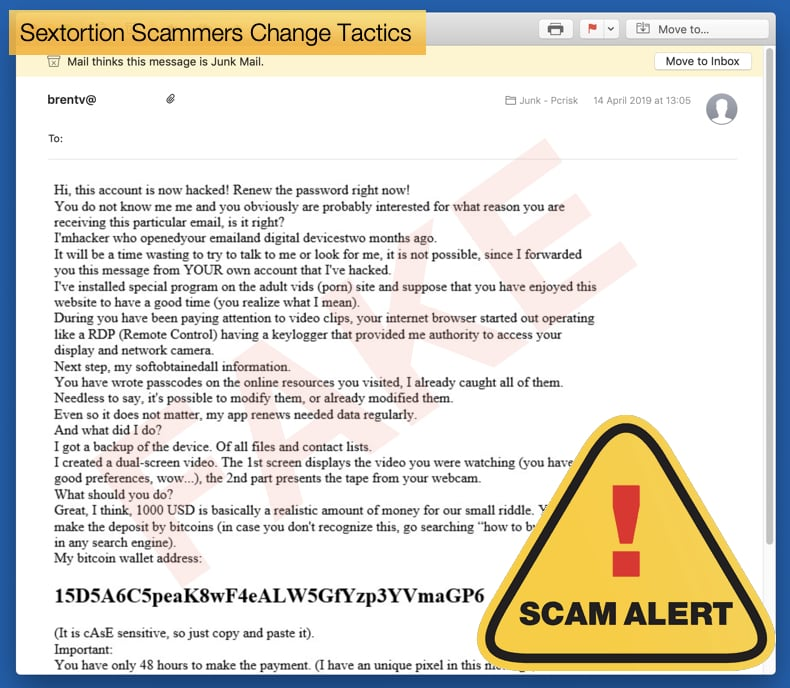 sextortion scammers change tactics