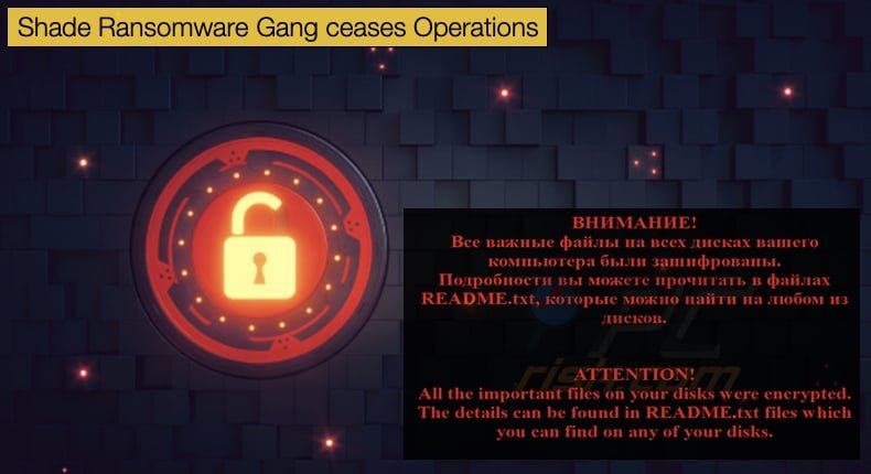 shade ransomware gang ceases operation