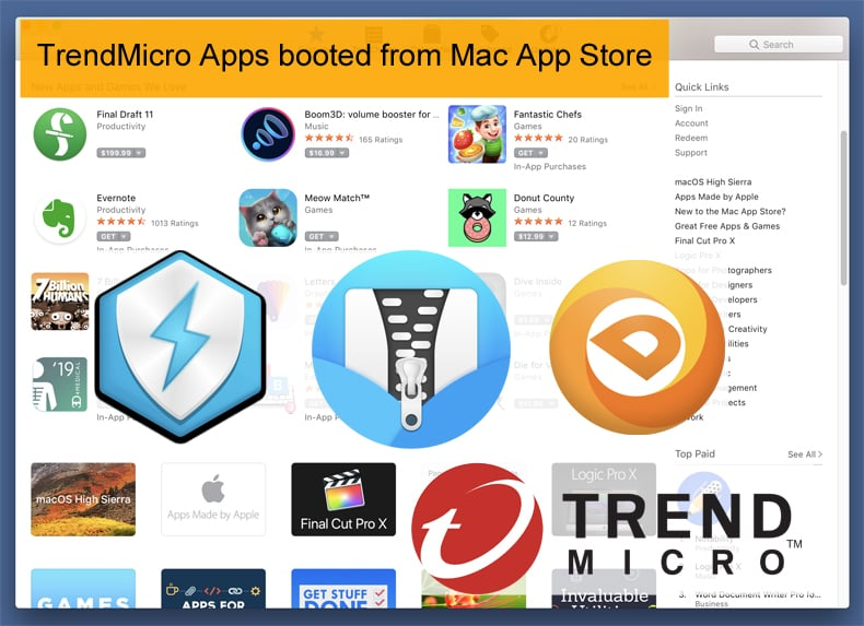 trendmicro apps removed from the mac app store