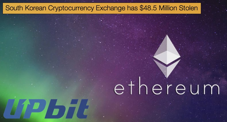 upbit crypto exchange hacked ethereum stolen