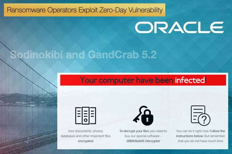 zero day oracle servers attacking ransomware