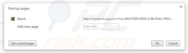 AVG Search removal from Google Chrome homepage