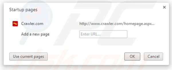 Removing crawler.com from Google Chrome homepage