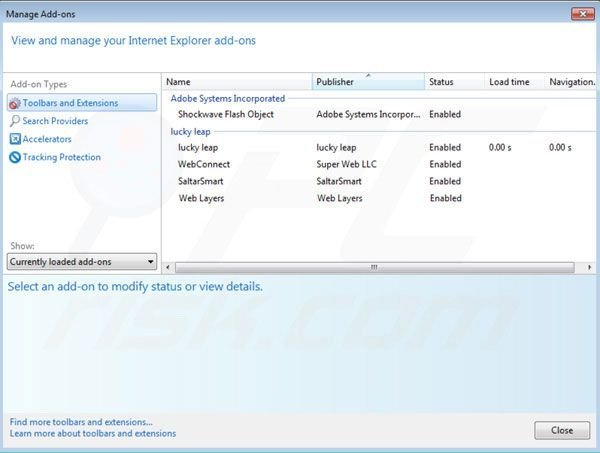 Higher Aurum removal from Internet Explorer extensions step 2