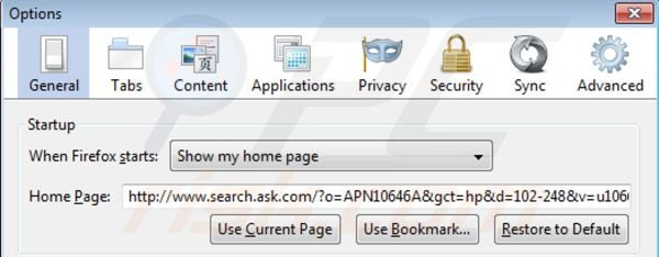 Removing Music toolbar from Mozilla Firefox homepage
