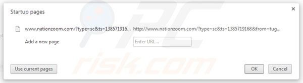 Removing nationzoom.com from Google Chrome homepage