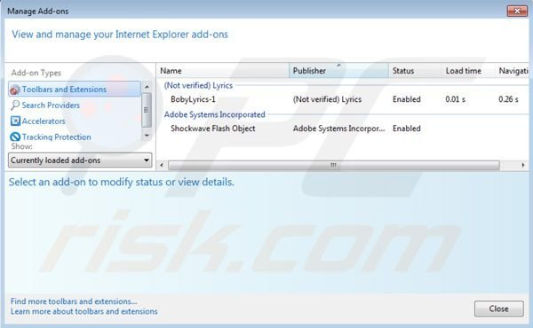 Nav Links removal from Internet Explorer