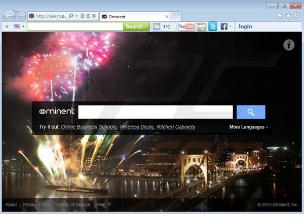 search.ominent.com browser hijacker