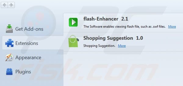 Removing Shopping suggestion from Mozilla Firefox step 2