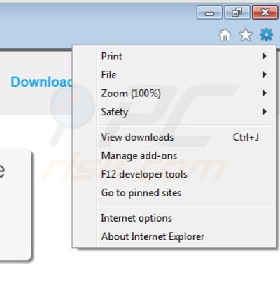 Removing Storimbo ads from Internet Explorer step 1
