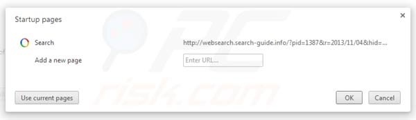 Websearch.search-guide.info removal from Google Chrome homepage