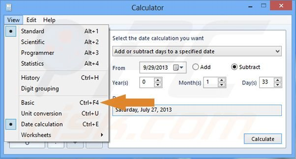 Excel months between two dates