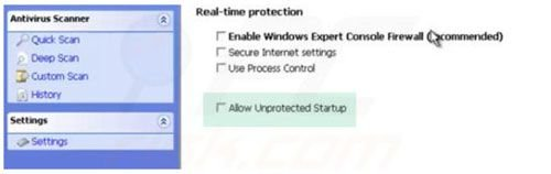 Windows Warding Module unprotected startup