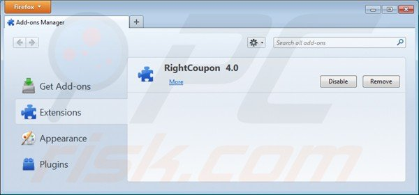 How to remove right coupon ads on mac