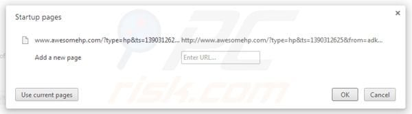Removing awesomehp.com homepage from Google Chrome