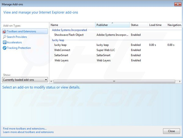 Removing BrowseDen ads from Internet Explorer step 2