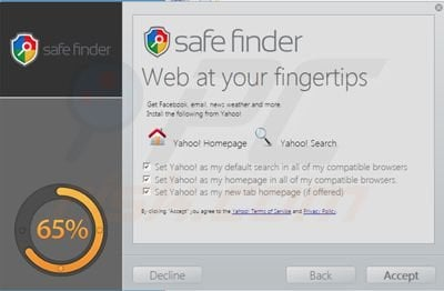 isearch.safefinder.net browser hijacker installer