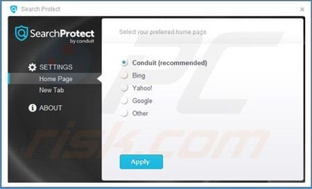 Search Protect by Conduit settings