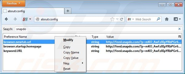 Removing shopping helper smartbar from Mozilla Firefox default search engine settings