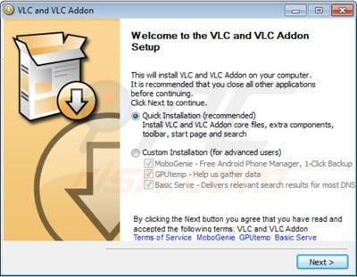 how to uninstall vlc addon ads virus removal instructions