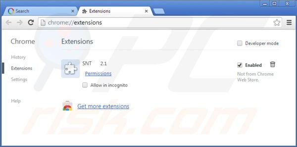 Removing websearch.webisawsome.info from Google Chrome extensions